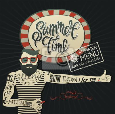 Letnie menu plakat