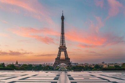 Fototapeta lever de soleil Paris tour eiffel