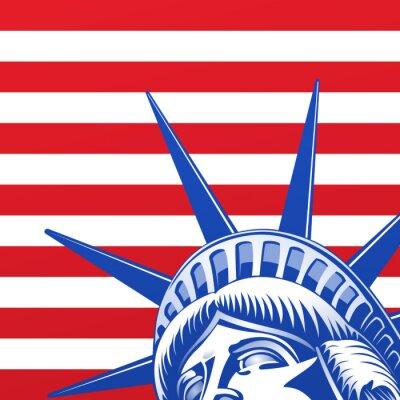 Fototapeta Liberty Statue twarzy