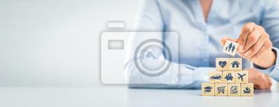 Fototapeta Life insurance concept.