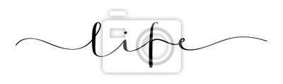 Fototapeta LIFE vector brush calligraphy banner