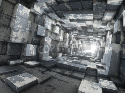 Fototapeta Light at end of tunnel