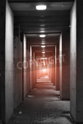 Fototapeta light at the end of the tunnel - door to the Paradise