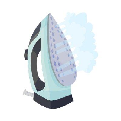 Fototapeta Light blue iron. Vector illustration on a white background.