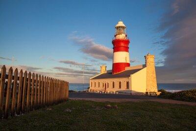 Fototapeta Lighthouse o zmierzchu w Cape Agulhas
