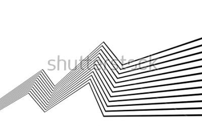 Fototapeta linia czarno-biały pasek abstrakcyjne grafiki optyczne