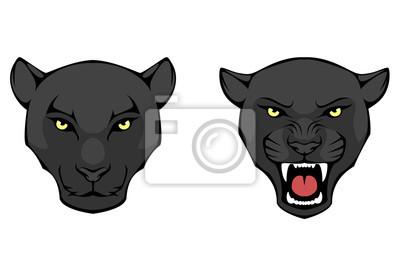 Fototapeta Linia ilustracją Black Panther głowy
