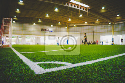 Fototapeta Linia narożna kryte boisko do treningu piłki nożnej