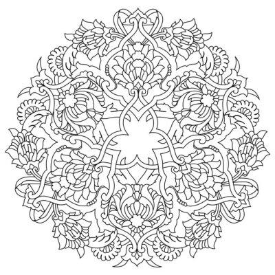 Fototapeta linie artystycznej serii wzór pięćdziesiąt pięć podnóżek