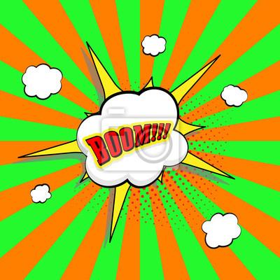 Litera bang. Komiks tekstowy efekt dźwiękowy. Mowa mowy Bubble. Komiksy, ilustracji wektorowych pop sztuki.