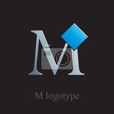 Fototapeta Litera M Logo Z Kwadratową Wektor Na Wymiar