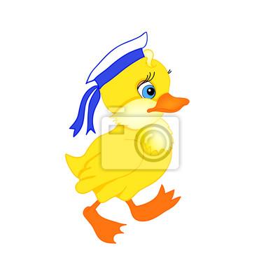 little cartoon duck
