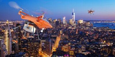 Fototapeta Livraisons par dronów