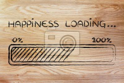 Fototapeta loading szczęście, bar postęp, ilustracja