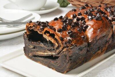 Fototapeta Loaf of chocolate babka