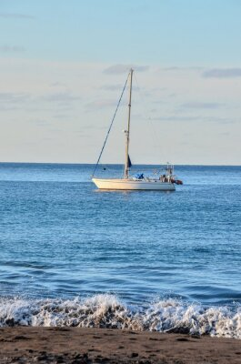Fototapeta Łódka na Oceanie
