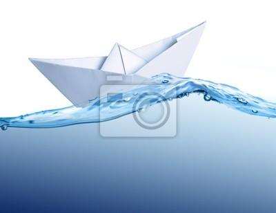 łódź papieru