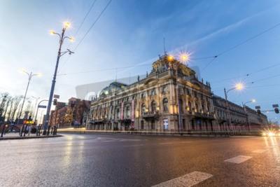 Fototapeta Łódź, Polska - 25 grudnia 2015: Pałac Poznańskiego przekształcono w muzeum publicznej miasta