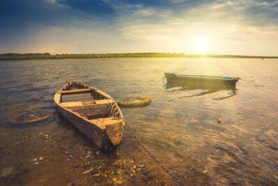 Fototapeta Łodzie na rzece