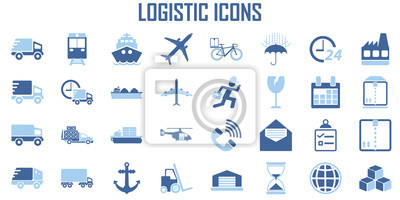 Fototapeta Logistic transport Shipping icon vector.