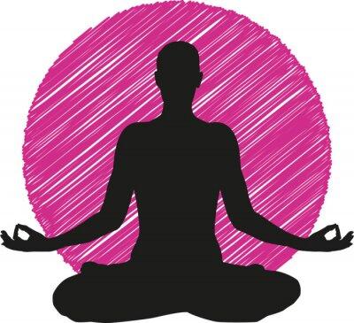 Fototapeta Logo Joga Medytacja Ikona