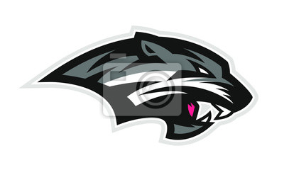 Fototapeta Logo of black wildcat or panther for a sport team