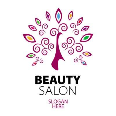 Fototapeta logo paw na salonie piękności