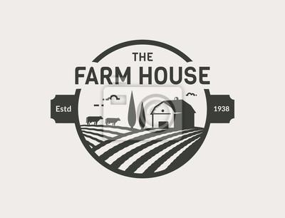 Fototapeta Logo wektor Farm House.
