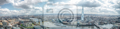 Fototapeta London Cityscape Skyline Szeroki Panorama. Słynne zabytki