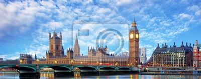 Fototapeta London panorama - Big Ben, Wielka Brytania