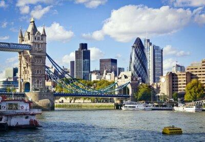 Fototapeta London panorama widziana od Tamizy