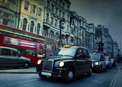 Fototapeta London Street Taxis