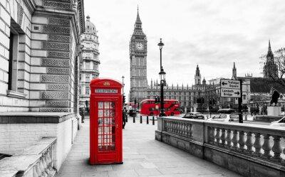 Fototapeta London Telefon Booth i Big Ben