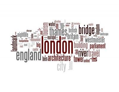 Fototapeta Londyn - Abstract pocztówki