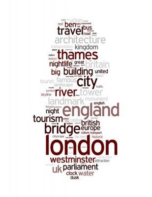 Fototapeta Londyn - Abstract pocztówki / art z tagami