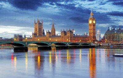 Fototapeta Londyn - Big Ben i Houses of Parliament, UK
