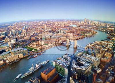 Fototapeta Londyn Miasto Widok Z Lotu Ptaka Zjednoczone Królestwo