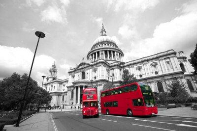 Fototapeta Londyn Routemaster Bus, Katedra Świętego Pawła