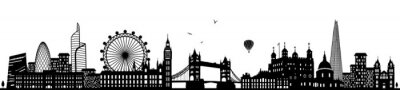 Fototapeta Londyn skyline czarny