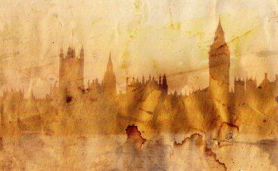 Fototapeta Londyn skyline w stylu artystycznym