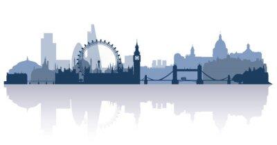 Fototapeta Londyn w wektorze płaskim stile
