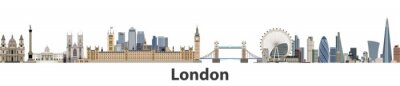 Fototapeta Londyn wektora panorama miasta