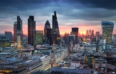 Fototapeta Londyn, Wielka Brytania - 27 stycznia 2015: panorama Londynu w słońca.