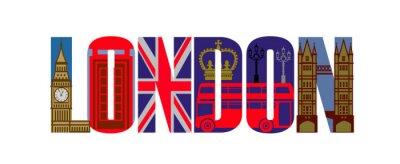 Fototapeta londyn zestaw ikon wektorowych