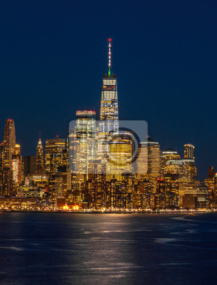 Fototapeta Panorama New York Cityscape River Side At