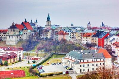 Fototapeta Lublin old town panorama, Poland.
