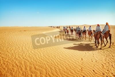 Fototapeta Ludzie na Saharze