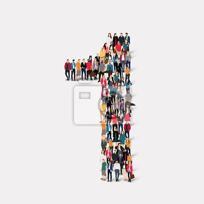 Fototapeta ludzie tworzą jeden numer