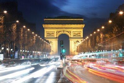 Fototapeta Łuk Triumfalny i lekkie ślady, Paryż