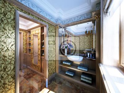 Fototapeta luksusowe antyczne biurko - antikes Luxus badezimmer